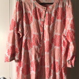Apple seeds women blouse Xl
